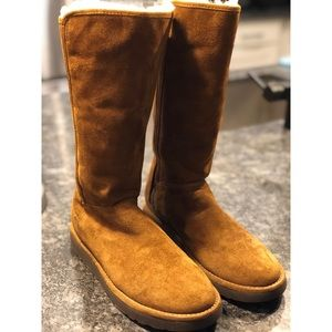 Ugg Classic tall wool line boots (chestnut)